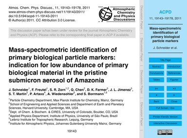 Mass-spectrometric Identification of Pri... by Schneider, J.