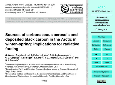 Sources of Carbonaceous Aerosols and Dep... by Wang, Q.