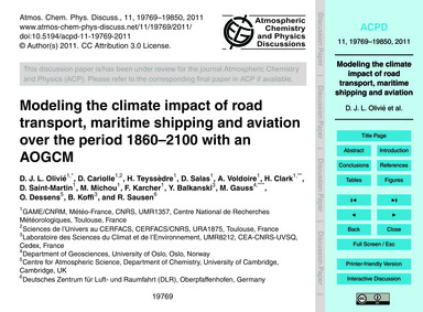 Modeling the Climate Impact of Road Tran... by Olivié, D. J. L.