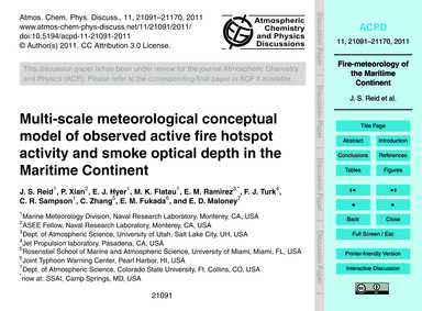 Multi-scale Meteorological Conceptual Mo... by Reid, J. S.