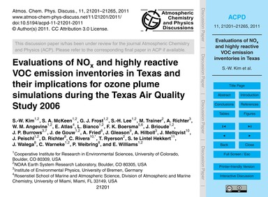 Evaluations of NoX and Highly Reactive V... by Kim, S.-w.