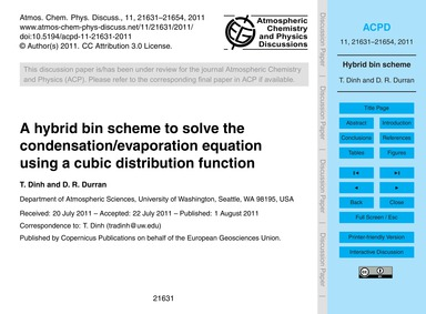 A Hybrid Bin Scheme to Solve the Condens... by Dinh, T.