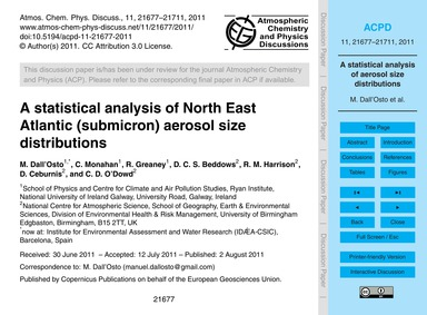 A Statistical Analysis of North East Atl... by Dall'Osto, M.