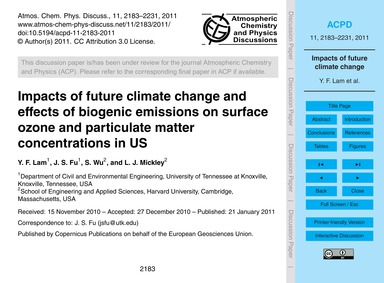 Impacts of Future Climate Change and Eff... by Lam, Y. F.