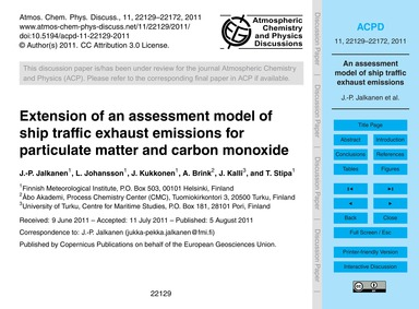 Extension of an Assessment Model of Ship... by Jalkanen, J.-p.