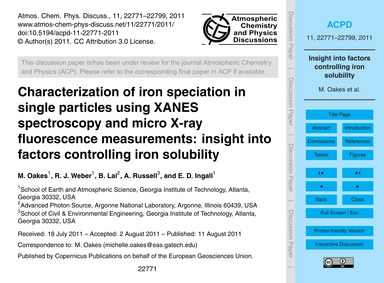 Characterization of Iron Speciation in S... by Oakes, M.