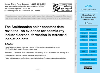 The Smithsonian Solar Constant Data Revi... by Feulner, G.