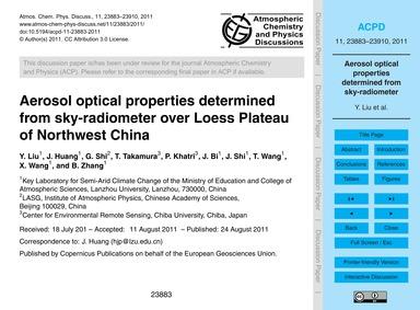 Aerosol Optical Properties Determined fr... by Liu, Y.