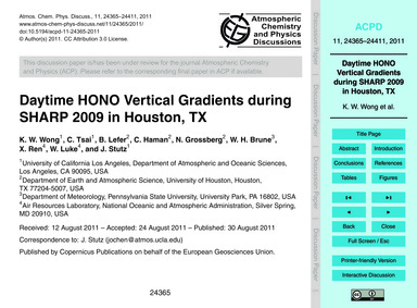 Daytime Hono Vertical Gradients During S... by Wong, K. W.
