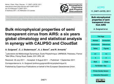 Bulk Microphysical Properties of Semi Tr... by Guignard, A.