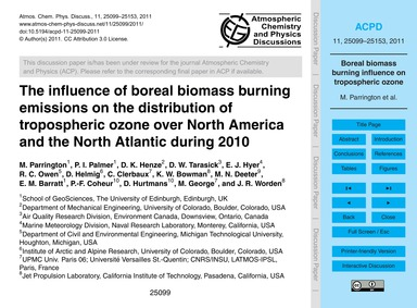 The Influence of Boreal Biomass Burning ... by Parrington, M.
