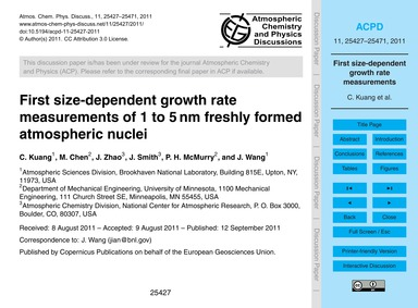 First Size-dependent Growth Rate Measure... by Kuang, C.
