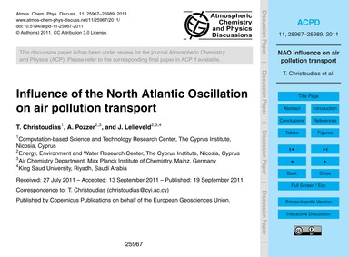 Influence of the North Atlantic Oscillat... by Christoudias, T.