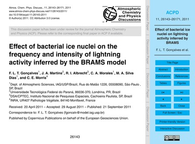 Effect of Bacterial Ice Nuclei on the Fr... by Gonçalves, F. L. T.
