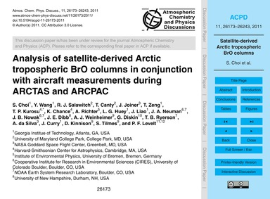 Analysis of Satellite-derived Arctic Tro... by Choi, S.