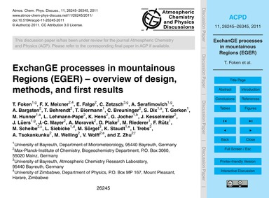 Exchange Processes in Mountainous Region... by Foken, T.