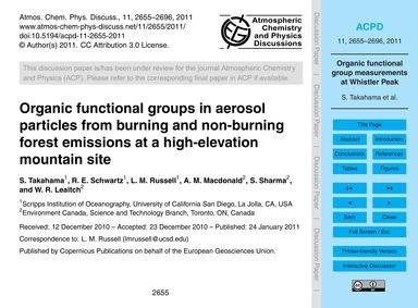 Organic Functional Groups in Aerosol Par... by Takahama, S.