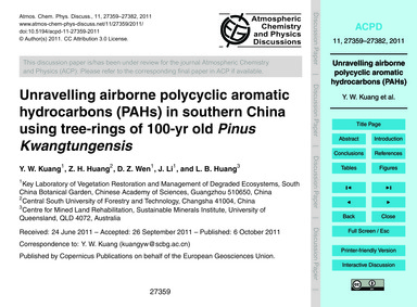 Unravelling Airborne Polycyclic Aromatic... by Kuang, Y. W.