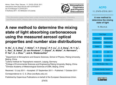A New Method to Determine the Mixing Sta... by Ma, N.