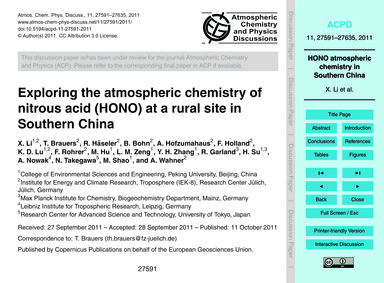 Exploring the Atmospheric Chemistry of N... by Li, X.