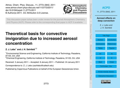 Theoretical Basis for Convective Invigor... by Lebo, Z. J.