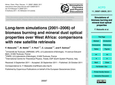 Long-term Simulations (2001–2006) of Bio... by Malavelle, F.