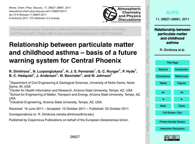 Relationship Between Particulate Matter ... by Dimitrova, R.