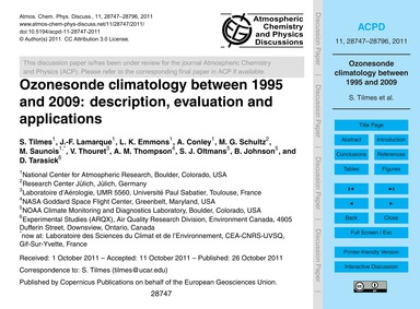 Ozonesonde Climatology Between 1995 and ... by Tilmes, S.