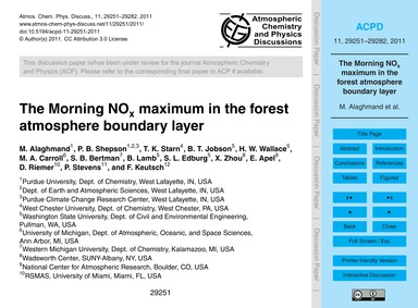 The Morning No X Maximum in the Forest A... by Alaghmand, M.