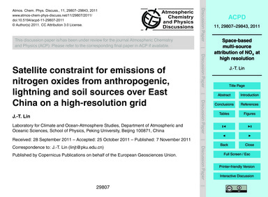 Satellite Constraint for Emissions of Ni... by Lin, J.-t.