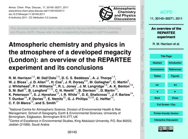 Atmospheric Chemistry and Physics in the... by Harrison, R. M.