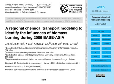 A Regional Chemical Transport Modeling t... by Fu, J. S.