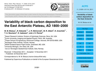 Variability of Black Carbon Deposition t... by Bisiaux, M. M.