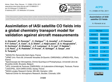 Assimilation of Iasi Satellite Co Fields... by Klonecki, A.