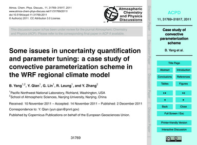 Some Issues in Uncertainty Quantificatio... by Yang, B.