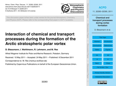 Interaction of Chemical and Transport Pr... by Blessmann, D.