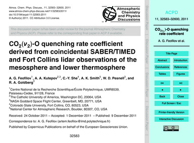 Co2(Ν2)-o Quenching Rate Coefficient Der... by Feofilov, A. G.