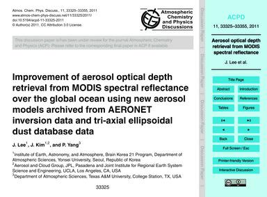Improvement of Aerosol Optical Depth Ret... by Lee, J.