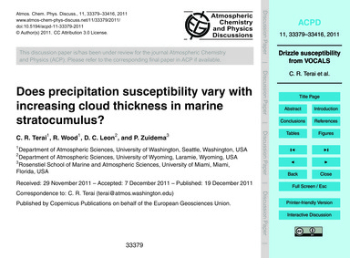 Does Precipitation Susceptibility Vary w... by Terai, C. R.