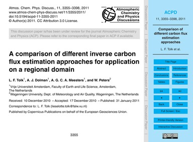 A Comparison of Different Inverse Carbon... by Tolk, L. F.