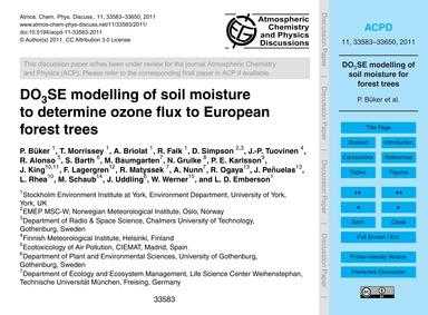 Do3SE Modelling of Soil Moisture to Dete... by Büker, P.