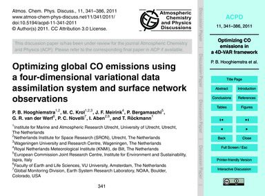 Optimizing Global Co Emissions Using a F... by Hooghiemstra, P. B.