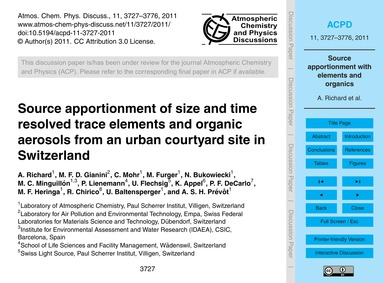 Source Apportionment of Size and Time Re... by Richard, A.