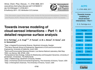 Towards Inverse Modeling of Cloud-aeroso... by Partridge, D. G.