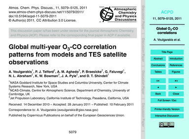 Global Multi-year O3-co Correlation Patt... by Voulgarakis, A.