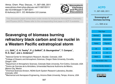 Scavenging of Biomass Burning Refractory... by Stith, J. L.