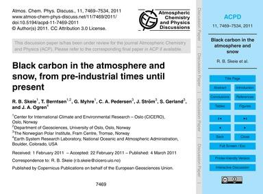 Black Carbon in the Atmosphere and Snow,... by Skeie, R. B.
