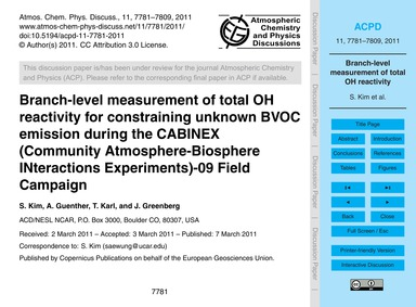 Branch-level Measurement of Total Oh Rea... by Kim, S.