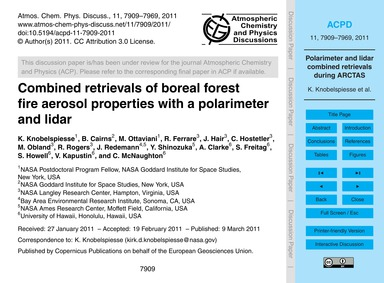 Combined Retrievals of Boreal Forest Fir... by Knobelspiesse, K.