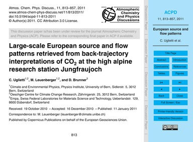 Large-scale European Source and Flow Pat... by Uglietti, C.